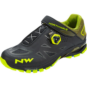 Northwave Spider Plus 2 Scarpe Uomo, black/yellow fluo
